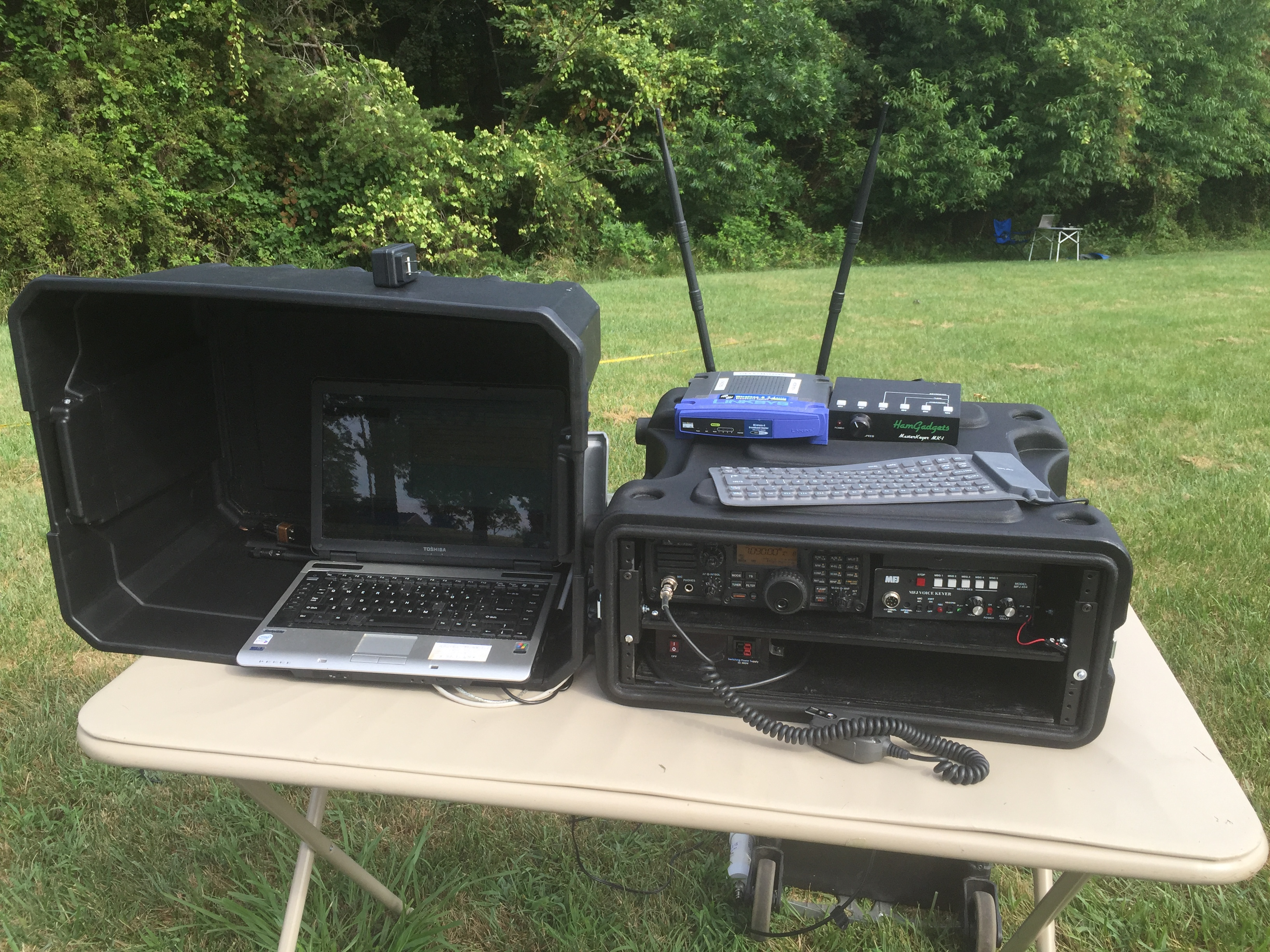The HF host machine and HF rig